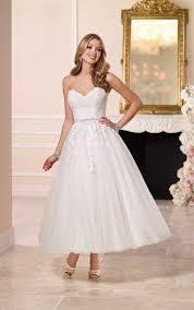 Tea Length Wedding Dress 1950s Tea Length Short Wedding Dress Stella York Wedding Dresses