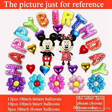 party balloons delivered happy birthday balloons set mickey mouse minnie balloon for boy
