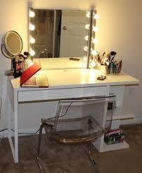 bedroom marvelous lighted makeup mirror in bathroom traditional