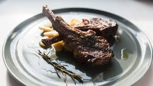 Rack Of Lamb On Grill Grilled Lamb Chops With White Beans Recipe Tasting Table