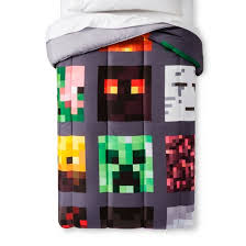 Minecraft Bedding For Kids Minecraft Good Vs Evil Comforter Target
