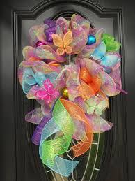 Spring Wreath Ideas Spring Deco Mesh Wreath Roezee U0027s Wreaths Pinterest Deco Mesh