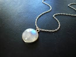 necklace silver etsy images Moonstone necklace in sterling silver bezel set smooth jpg
