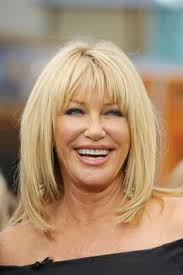 how to cut your own hair like suzanne somers hairstyles for women over 50 with thick hair medium length