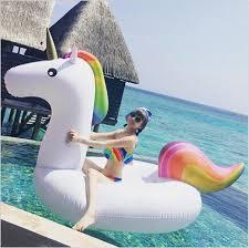 aliexpress com buy unicorn mounts pvc inflatable floating bed