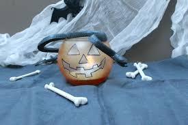 diy halloween jack o lantern and cauldron candle holders