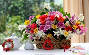 Flower Decorations For Home Free Wallpaper Fall Flower Baskets Wallpapersafari