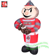 Blow Up Lawn Decorations Gemmy Airblown Inflatable Ohio State Brutus Buckeye Mascot