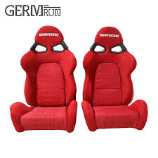 si e auto sport recaro 2 pcs set high quality sport racing car seat black fabric
