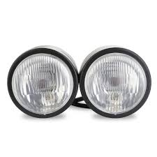 motocross street bike lesoleil twin headlight motorcycle round double dual lamp