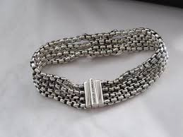 chain bracelet with diamond images David yurman silver white refurbished by dy ss 18k quot x quot diamond w jpg