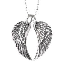 silver necklace wings images Medium silver wing necklace by silver service jewellery jpg