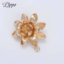 Lotus Flower Parts - online get cheap gold lotus charm aliexpress com alibaba group