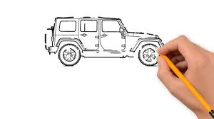 cute jeep wrangler jeep transport with a pencil to draw step by step youtube