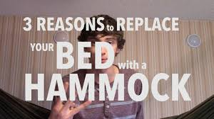 hammock bed 3 reasons to replace your bed with a hammock youtube