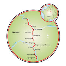 Loire Valley France Map by Loire River Valley And Paris Bike Boat Tour France