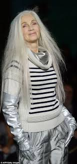 glamorous styles for medium grey hair ageing punks with grey mohawks rule at jean paul gaultier at pfw