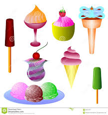 different types of ice cream stock vector image 58612947