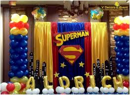 Superman Decoration Ideas by Themed Birthday Superman V Decors And Events 9488085050
