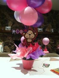 Baby Monkey Centerpieces by Made These Monkey Centerpieces For A Baby Shower Baby Shower