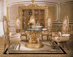 Italian Baroque Interior Design Italian Round Dining Room In - Baroque interior design style