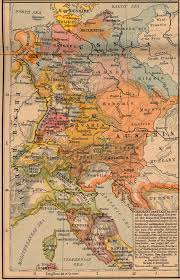 Late Medieval Europe Map by Germany And Italy In 1803