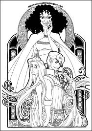 get this free rapunzel coloring pages to print disney princess