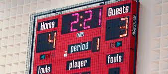 scoreboard man led sign sports scoreboard toronto canada