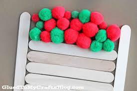 basket full of pom pom apples kid craft glued to my crafts