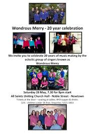 20 yr anniversary wondrous merry is a party and you re invited the choral