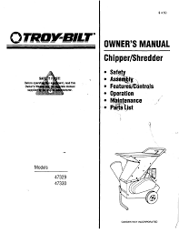 troy bilt chipper 47330 user guide manualsonline com