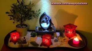 relaxvideo kleiner zen garten mit zimmerbrunnen small zen