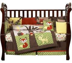 woodland animals baby bedding forest friends animal baby bedding 9pc crib set sweet jojo designs