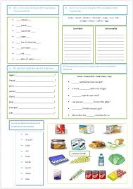 Countable And Uncountable Worksheet For Grade 2 Food Countable And Uncountable Nouns Quantifiers Contables Y No
