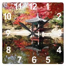 japanese garden wall clocks zazzle