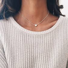 cute necklace chokers images Classic love heart choker necklace women 2017 new fashion simple jpg