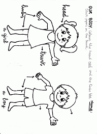 body parts coloring page for kids coloring home