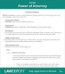 Free Power Attorney Forms Printable by Power Of Attorney Form Free Poa Forms Us Lawdepot