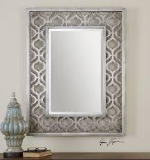 Decorative Mirrors For Bathroom Uttermost Sorbolo Mirror Frame Features A Decorative Design