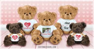 valentines bears say how you feel with a valentines customizedgirl