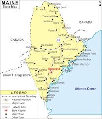 map of maine cities maine map map of maine cities and roads
