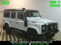white land rover defender second hand land rover defender xs station wagon 2 2 tdci 7 seater