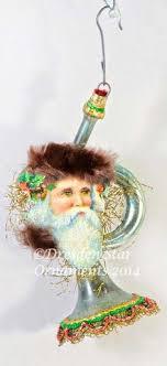 vintage 1930s blown glass musical instrument horn ornament