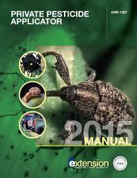 aces publication private pesticide applicator study manual anr