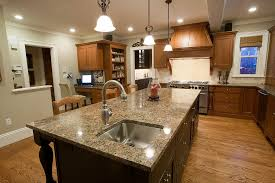 Kitchen Island Designs With Sink Bathroom Exciting Curved Bianco Romano Granite With Jsi Cabinets
