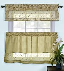 Curtains And Valances Fairfield Kitchen Curtains Valance Tier Pairs Black By