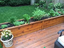 decoration cedar planter box elevated herb garden planting an