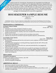 Sample Housekeeper Resume by Housekeeper Resume Hotel Housekeeper Resume Best Housekeeper