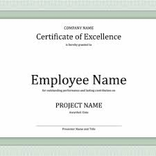 professional and simple certificate of excellence template for