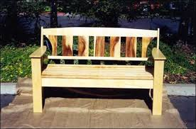 Wooden Bench Plans To Build by Outdoor Wood Bench Plans Treenovation